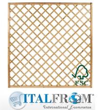 Panel de celosía de madera H180x150cm enrejado Cerca de Jardín Italfrom