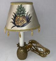 Vintage Small Solid Brass Pineapple Lamp Desktop Table Nightlight Lamp