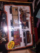 Preowned VINTAGE 90's GOLD RUSH EXPRESS Train Set #186 Works!