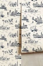 NEW Anthropologie Cities Toile Wallpaper RiflePaperCo. for Hygge&West