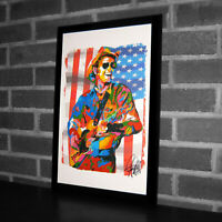 Jerry Reed Singer Guitar Jazz Country Rock Music Poster Print Wall Art 11x17