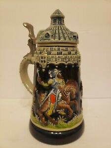 """2 Liters XLG  Size Brand New .Nearly 9 1//2"""" Tall Stiegl Ceramic Beer Stein"""