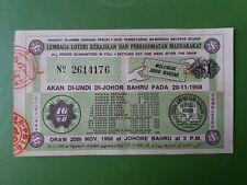 Malaysia Lottery Ticket : Lembaga Loteri Kebajikan & Perkhidmatan Masharakat :#1
