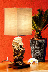 Driftwood Table Lamp 45 CM Antique Wood Table Desk Lamp Wood Lamp Night Natural