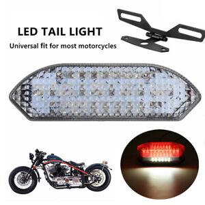 30LED Motorcycle ATV Brake License Plate Tail Light Stop Running Bracket Holder