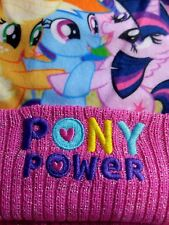 MY LITTLE PONY, Hat and Gloves Set with bonus Scarf, 3 PIECE SET, Knitted, NEW