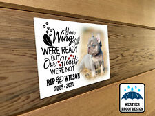 Pet dog photo plaque, Grave memorial plaque, Personalised dog Remembrance gift.