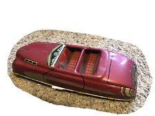 Vintage 1950's Marx Tin Lithograph V89 Friction Car Red Speedster