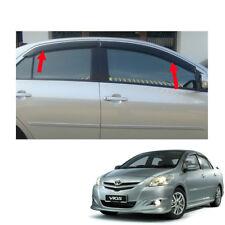For Toyota Vios Yaris Belta 07 08 10 - 12 13 Wind Deflector Weather Guard Black