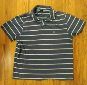 Nautica Mens Large Polo Short Sleeve Shirt Logo N Blue in Flawless Condition A1