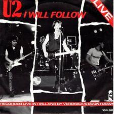7inch U2 i will follow HOLLAND  1982 EX+ BLUE LABEL  (S1357)