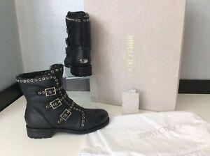 Jimmy Choo Darkle Ankle Boots, Uk 3 Eu36 Black Leather, Sheepskin Lined Rrp £900