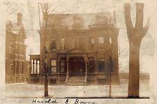 MI - VERY RARE! REAL PHOTO 1907 Harold S. Bowen Residence in Detroit, Michigan