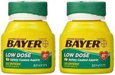 2 Pack - Bayer Aspirin Regimen Low Dose 81mg Enteric Coated Tablets 120 Each