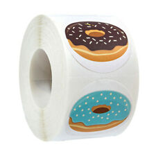 Gift Packaging Baking Sign Seal Labels Thank You Stickers Donut Sticker Roll