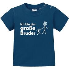 """Baby T-Shirt kurzarm bedruckt """"Ich bin der großer Bruder"""" Männchen BIO Baumwolle"""