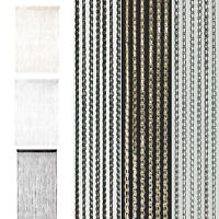 1/2 Pcs String Fringe Net Bling Panel Divider Sparkle Window Door Curtain UK