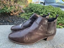 Michael  Kors Brown Leather  Ankle Boots Size 9.5M Boho Retro Casual Dress GUC