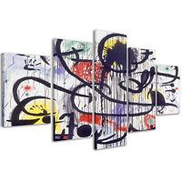 Quadri Moderni 200 x 90 cm Stampe su Tela Canvas XXL Quadro Joan Mirò #086