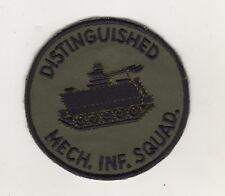 Uniform Aufnäher Patches Army Distinguished 1970 Mech. Infanterie Squad