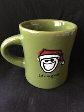LIfe is Good Do What You Like - Like What You Do Coffee Mug Jake in Santa Hat