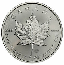 2020 Canada 1 oz Silver Maple Leaf $5 Coin GEM BU SKU59990