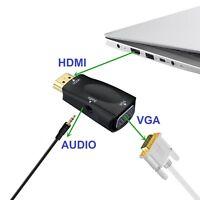 ✅HDMI Stecker auf zu VGA Buchse Adapter Konverter Pc Monitor Laptop Beamer TV HD