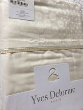 Yves Delorme STELLA MILK SATIN King Superking FLAT Sheet