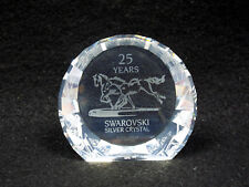 Swarovski Silver Crystal 25 Year Wild Horses Paperweight #283324, in box