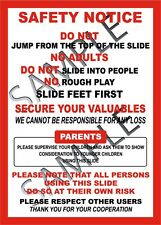Slide Safety Sign