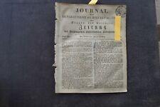 1813 Zeitung 12 / Verrat Graf York Konvention von Tauroggen