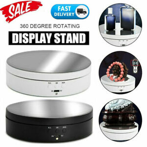 Electric Rotating Display Stand 360° Turntable Jewelry Craft Mirror Show Holder