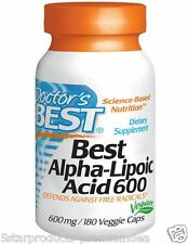 Doctor's Best Best Alpha-Lipoic Acid  ALA Coenzyme Vegan 600 mg 180 Veggie Caps