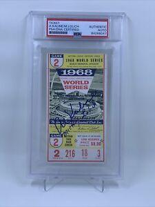 Al Kaline Mickey Lolich Signed 1968 World Series Ticket Stub PSA/DNA Tigers