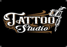 TATTOO STUDIO,RETRO,ENAMEL,VINTAGE STYLE METAL SIGN,629