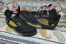 Air Jordan Retro 5 V Black Metallic Silver 2006 Mens Sz 14 Basketball Shoes 3m