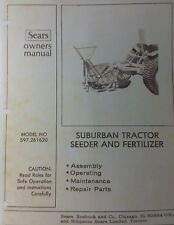 Sears Suburban Lawn Garden Tractor 3-Point Implements Owner & Parts (8 Manual s)