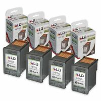 LD Reman Replacement Ink Cartridges for HP C6656AN (HP 56) Black (4 pack)