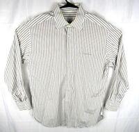 Ermenegildo Zegna Dress Shirt Mens 42/16.5 Button Up Long Sleeve Stripes