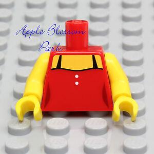 NEW Lego Female RED SHIRT MINIFIG TORSO - Girl Minifigure Dress Tank Top w/Black