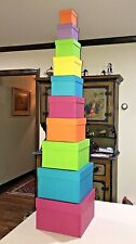 Colorful Nesting Gift Boxes - 10 boxes total.