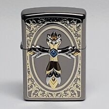 ZIPPO Lighter PRAY EMBLEM BK Made in USA Reworked at Korea with unique design