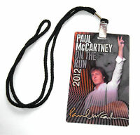 Paul Mccartney Laminate 2012 Tour Hologram Lanyard New Official Limited
