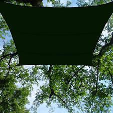 Heavy Duty Green Waterproof Shade Sail 13x16.5' Rectangle Backyard Lawn Awning