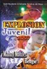 Explosion Juvenil En Vivo Dvd Manny Montes, Bengie Regeton Rap Cristiano NEW