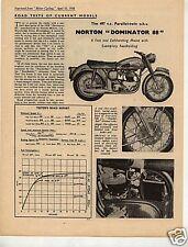 N°317/ NORTON : prospectus roadtest 497cc type 88  1958