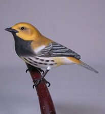 Black -throated Green Warbler Wood Carving/Birdhug