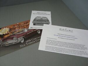 BROCHURE ONLY(NO CAR)-1/24-DANBURY MINT-1958 CHRYSLER NEW YORKER CONVERTIBLE