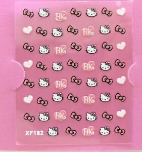 Hello Kitty Water Transfer Nail Art Sticker Decal Gift Buy 4 Get 1 FREE