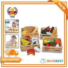 Melissa & Doug Food Groups Wooden Play Food Educational Set Multicolour - 10271